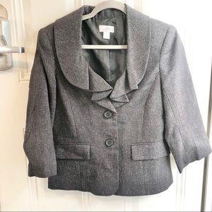 Ann Taylor Loft charcoal women's suit jacket. Size 8.